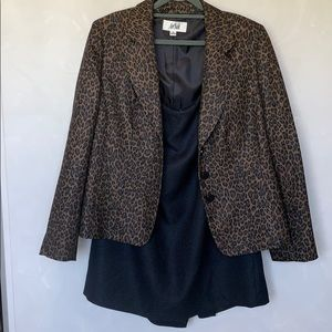 Le Suit Leopard Print/Black Suit Set